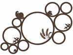 Thanksgiving Circles 12 x 12 Overlay Laser Die Cut