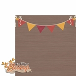 Thanksgiving: Count your blessings 2 Piece Laser Die Cut Kit