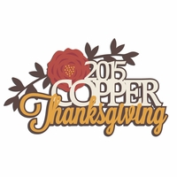 Thanksgiving: Custom Family Laser Die Cut