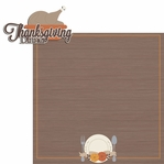 Thanksgiving: Turkey Dinner 2 Piece Laser Die Cut Kit
