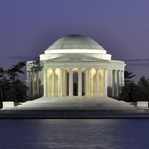 The Capitol: Jefferson Memorial 12 x 12 Paper