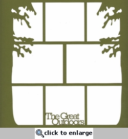 The Great Outdoors 12  x 12 Photo Overlay Laser Die Cut
