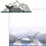 The Last Frontier: Whale Watching 2 Piece Laser Die Cut Kit