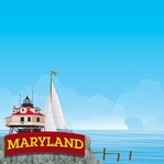 The State Line: Maryland 12 x 12 Paper