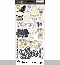 The Story of Us 6 x 12 Chipboard Stickers