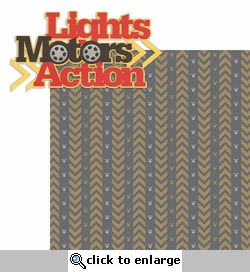 The Studios: Lights Motor Action  2 Piece Laser Die Cut Kit