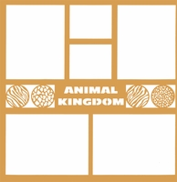 Theme Park: Animal Kingdom 12 x 12 Overlay Laser Die Cut