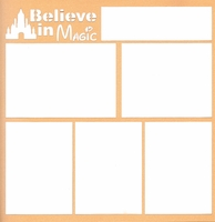 Theme Park: Believe In Magic 12 x 12 Overlay Laser Die Cut