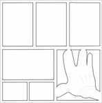 Theme Park: Character Hand 12 x 12 Overlay Laser Die Cut