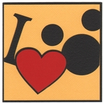 Theme Park: I Heart The Mouse Laser Die Cut-<font color=red> <b>we ♥ this</b></font>