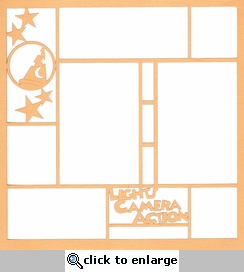 Theme Park: Lights, Camera, Action 12 x 12 Overlay Laser Die Cut