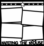 Theme Park: Meeting The Mouse 12 x 12 Overlay Laser Die Cut