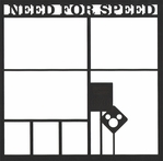 Theme Park: Need For Speed 12 x 12 Overlay Laser Die Cut