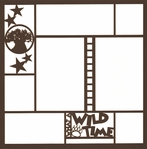 Theme Park: What A Wild Time 12 x 12 Overlay Laser Die Cut