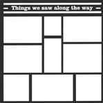 Things We Saw Along The Way 12 x 12 Overlay Laser Die Cut