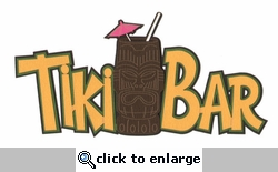 Tiki Bar Laser Die Cut