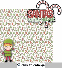 Tis' The Season: Santa's Little Helper 2 Piece Laser Die Cut Kit