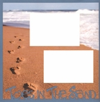 Toes In The Sand  2 x 12 Overlay Quick Page Laser Die Cut