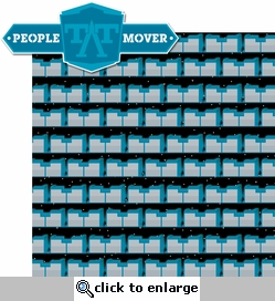 TomorrowLand: People Mover 2 Piece Laser Die Cut Kit