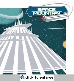 TomorrowLand: SpaceMountain 2 Piece Laser Die Cut Kit