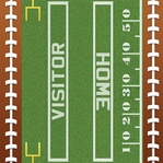 Touch Down: Football Borders 12 x 12 Paper