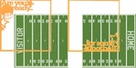 Touchdown: Are You Ready For Some Football Double 12 x 12 Overlay Quick Page Laser Die Cut