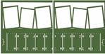 Touchdown: Field Double 12 x 12 Overlay Laser Die Cut