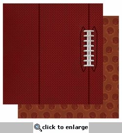Touchdown: Football 12 x 12 Double-Sided Glitter Paper