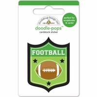 Touchdown: Football Badge Doodle-Pops 3D Stickers