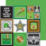 Touchdown: Football Field 12 x 12 Double-Sided Cardstock
