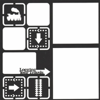 Train: Logging Your Travels 12 x 12 Overlay Laser Die Cut