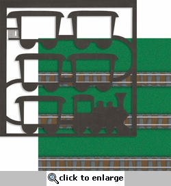 Train: Railway 2 Piece Overlay Quick Page Laser Die Cut