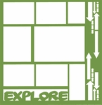 Travel and Camping: Explore 12 x 12 Overlay Laser Die Cut
