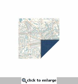 Travel: Map-Wallpaper 12 x 12 Double-Sided Cardstock