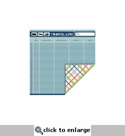 Travel: Travelog-Plaid 12 x 12 Double-Sided Cardstock