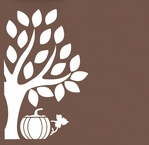 Tree and Pumpkin Cut Out 12 x 12 Overlay Laser Die Cut