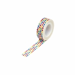 Trendy Tape Dots/Rainbow 15mm x 10 yds