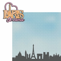 Tres Chic: Paris Je t' aime 2 Piece Laser Die Cut Kit