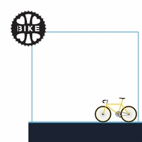 Triathlon: Bike 2 Piece Laser Die Cut Kit