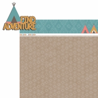 Tribal Life: Find Adventure  2 Piece Laser Die Cut Kit