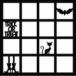Trick or Treat 12 x 12 Overlay Laser Die Cut