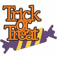 Trick or Treat Laser Die Cut