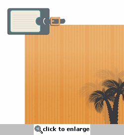 Tropical Breeze: Luggage Tag Laser Die Cut Kit