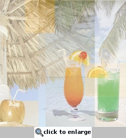 Tropical Drinks Collage 12 x 12 Paper#