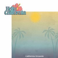 Tropical: Hello California 2 Piece Laser Die Cut Kit