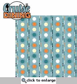 Tropical Journey: Cruise Dining 2 Piece Laser Die Cut Kit