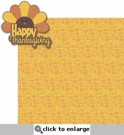 Turkey Day: Happy Thanksgiving 2 Piece Laser Die Cut Kit