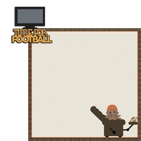 Turkey Time: Time for football 2 Piece Laser Die Cut Kit