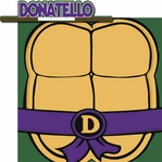Turtle Power: Donatello 2 Piece Laser Die Cut Kit