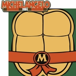 Turtle Power: Michelangelo 2 Piece Laser Die Cut Kit